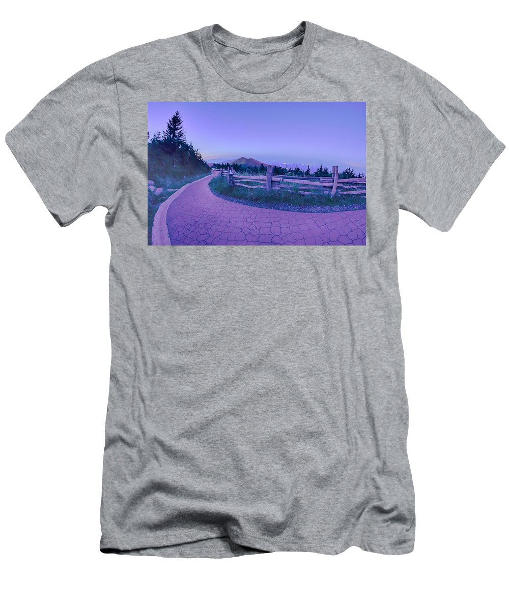 State Men's T-Shirt (Athletic Fit) featuring the photograph Top Of Mount Mitchell After Sunset by Alex Grichenko