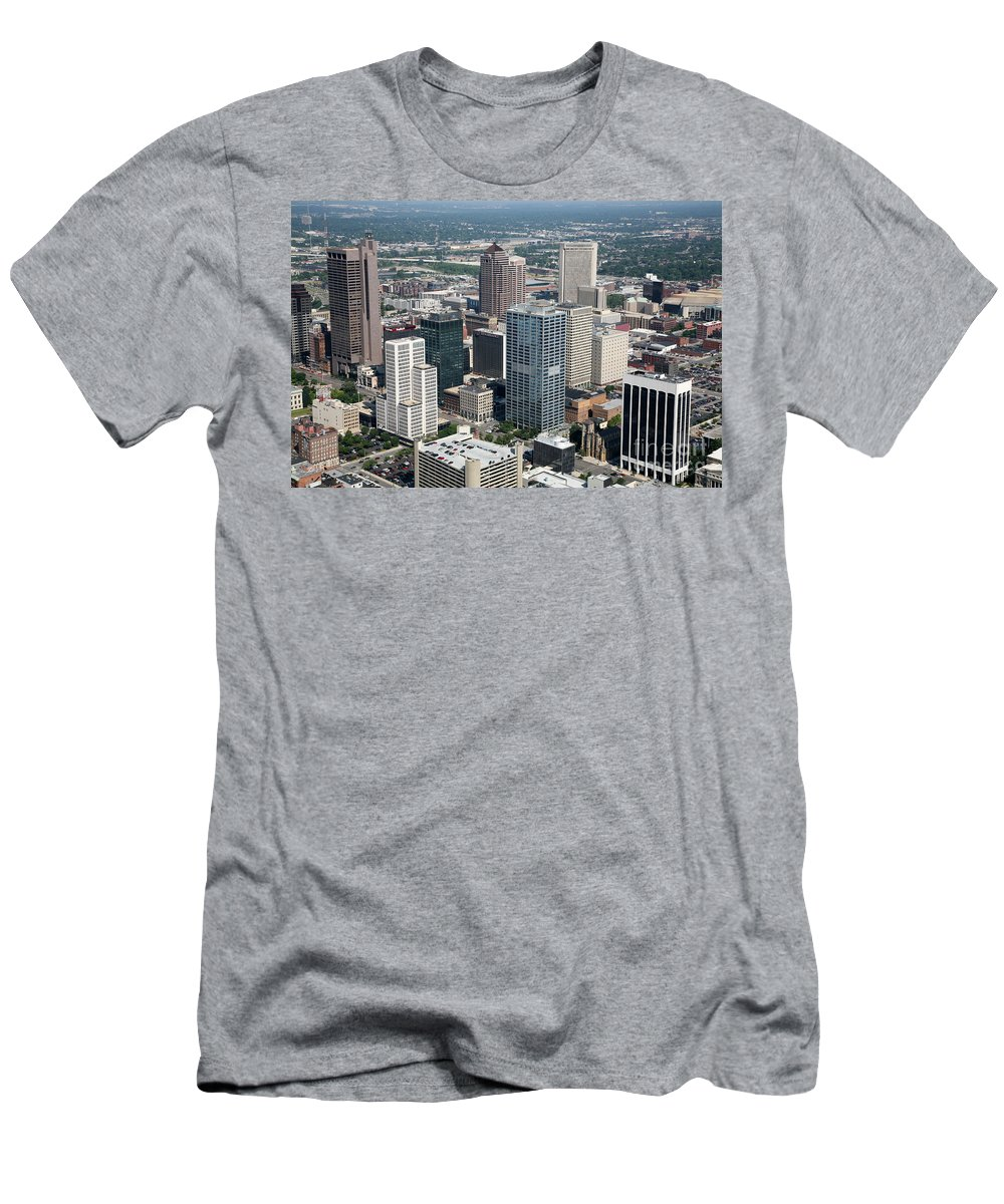 Columbus Men's T-Shirt (Athletic Fit) featuring the photograph Uptown District by Bill Cobb