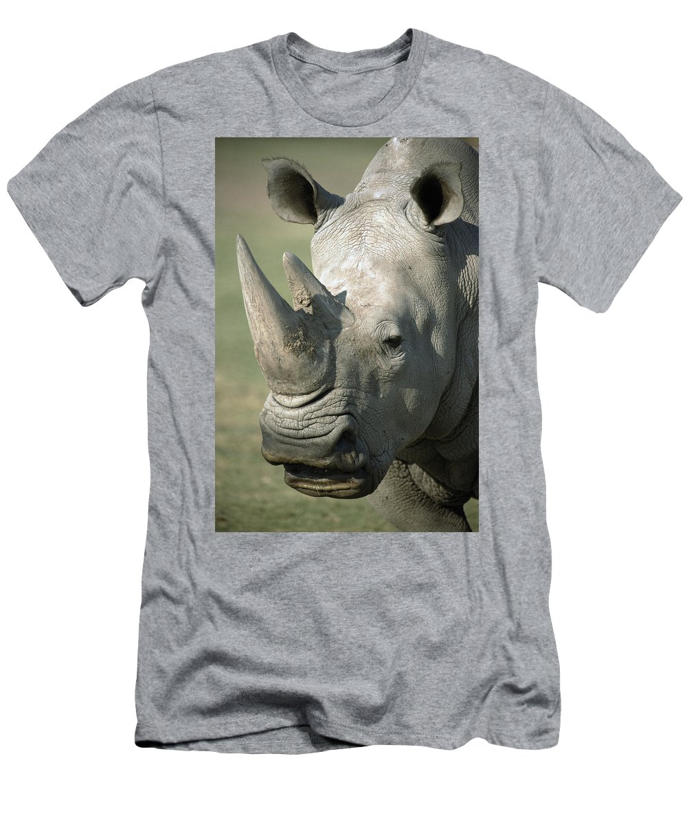 Feb0514 T-Shirt featuring the photograph White Rhinoceros Portrait by San Diego Zoo