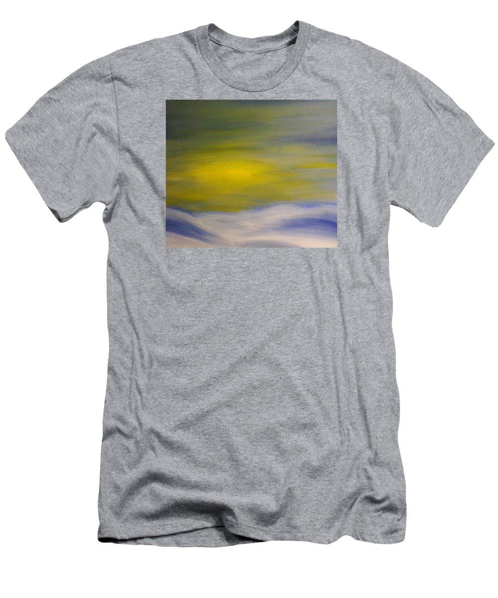 Landscape Men's T-Shirt (Athletic Fit) featuring the painting Winter Solstice by Steve Jorde