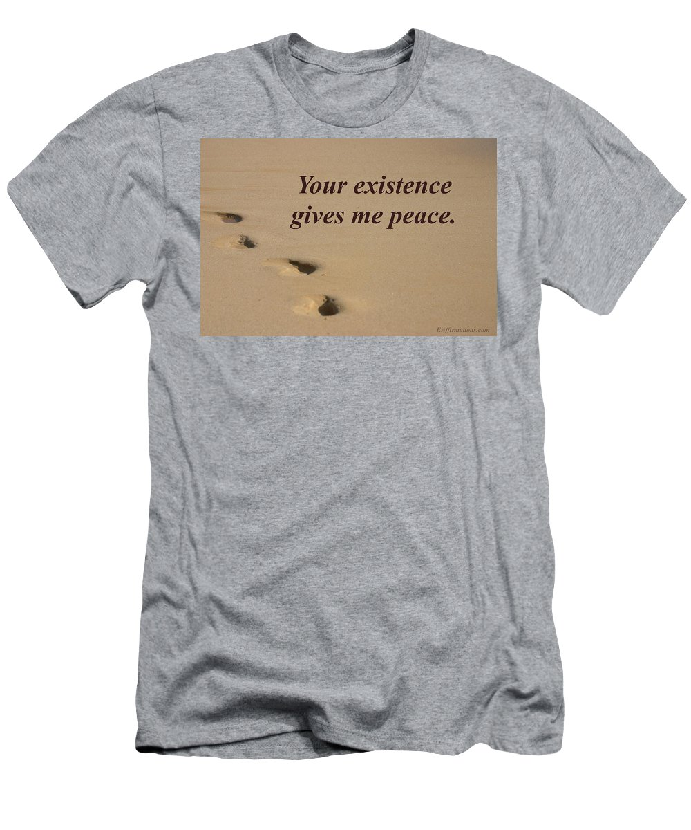 Ocean Men's T-Shirt (Athletic Fit) featuring the photograph Your Existence Gives Me Peace by Pharaoh Martin