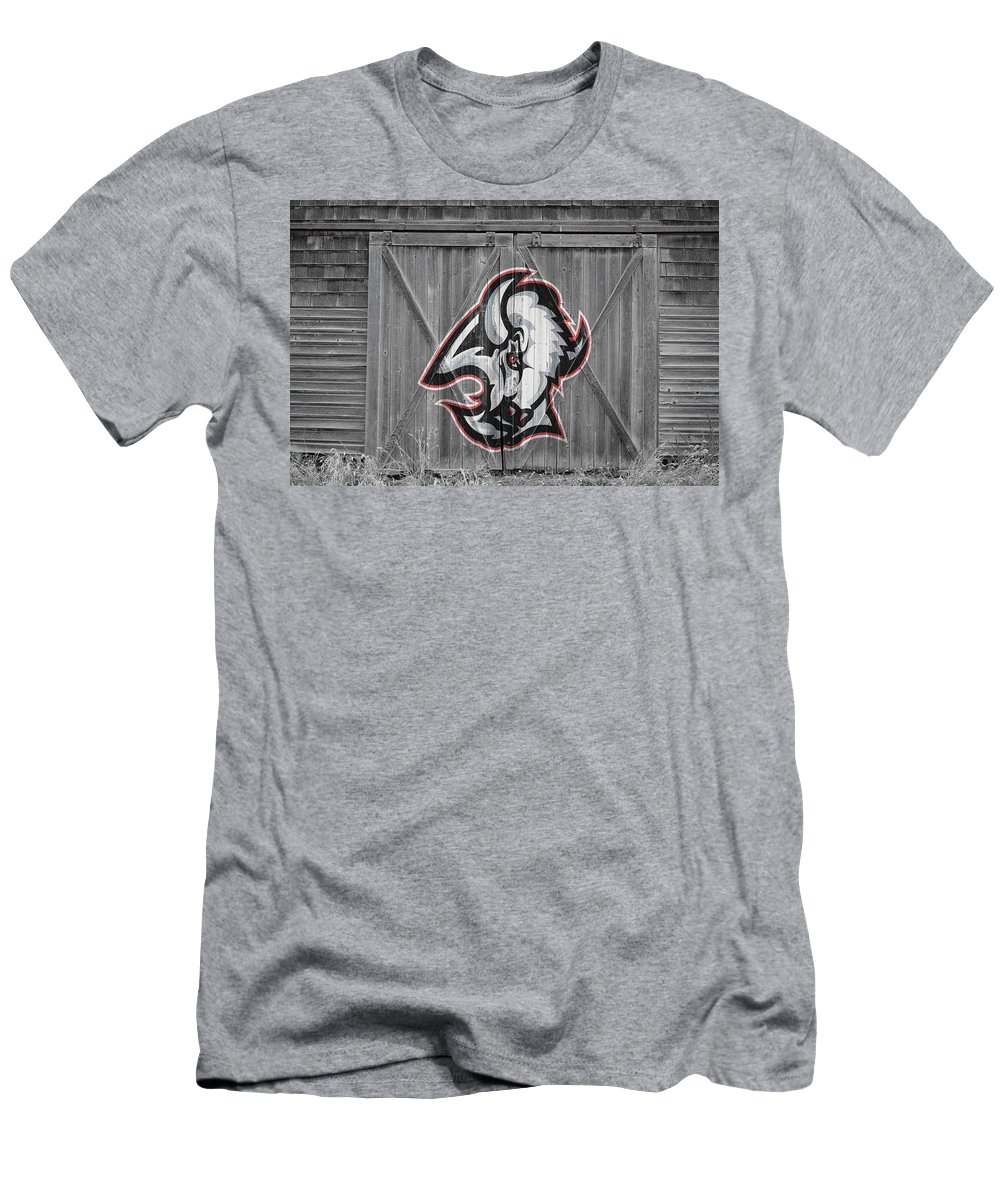 Sabres Men's T-Shirt (Athletic Fit) featuring the photograph Buffalo Sabres by Joe Hamilton