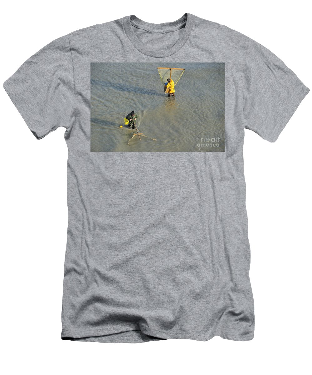 Shrimper Men's T-Shirt (Athletic Fit) featuring the photograph 110307p251 by Arterra Picture Library