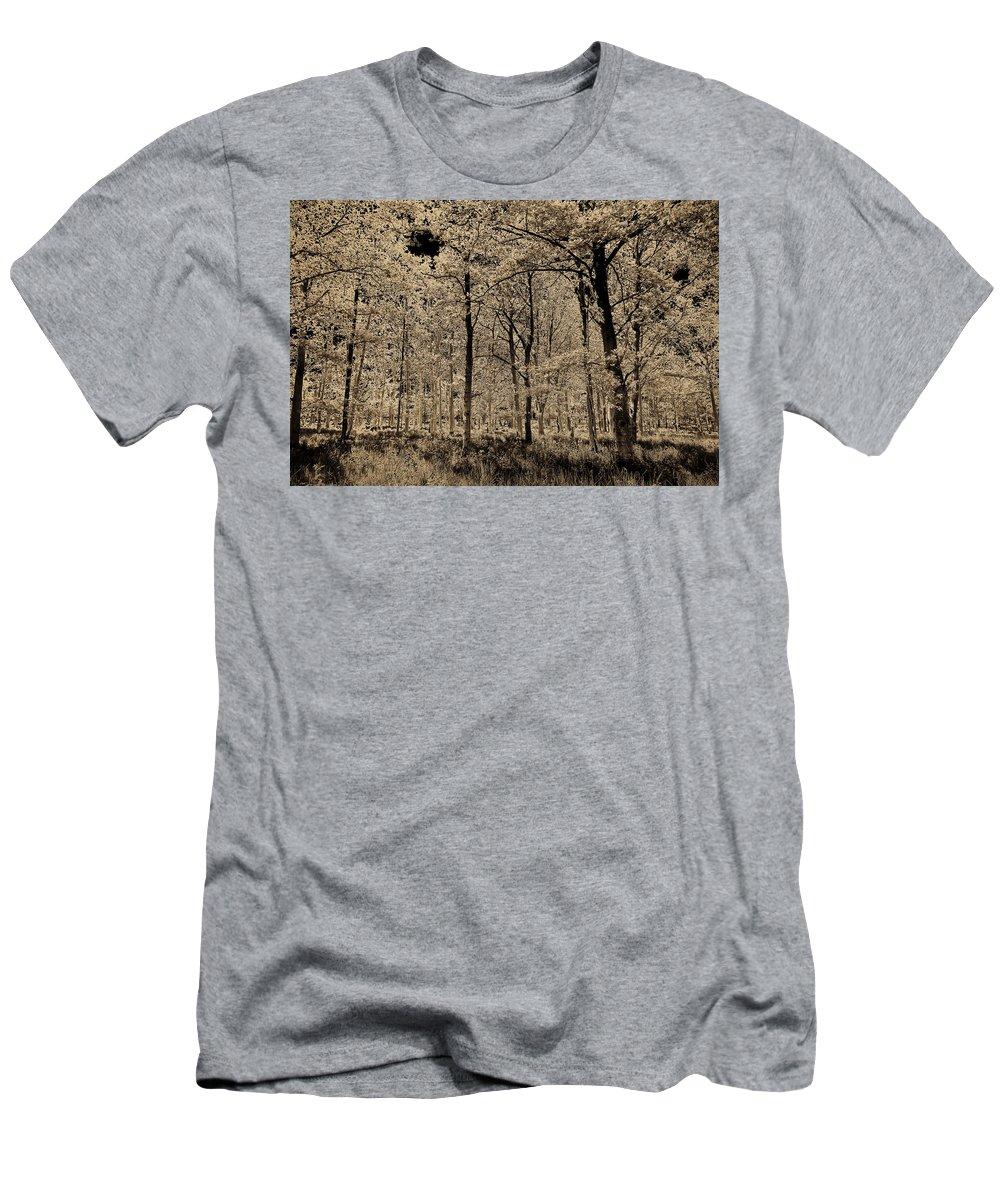 Tree Men's T-Shirt (Athletic Fit) featuring the digital art Forest Art by David Pyatt