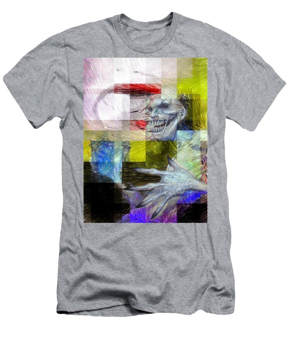 Halloween Men's T-Shirt (Athletic Fit) featuring the digital art Halloween Mask by Rafael Salazar