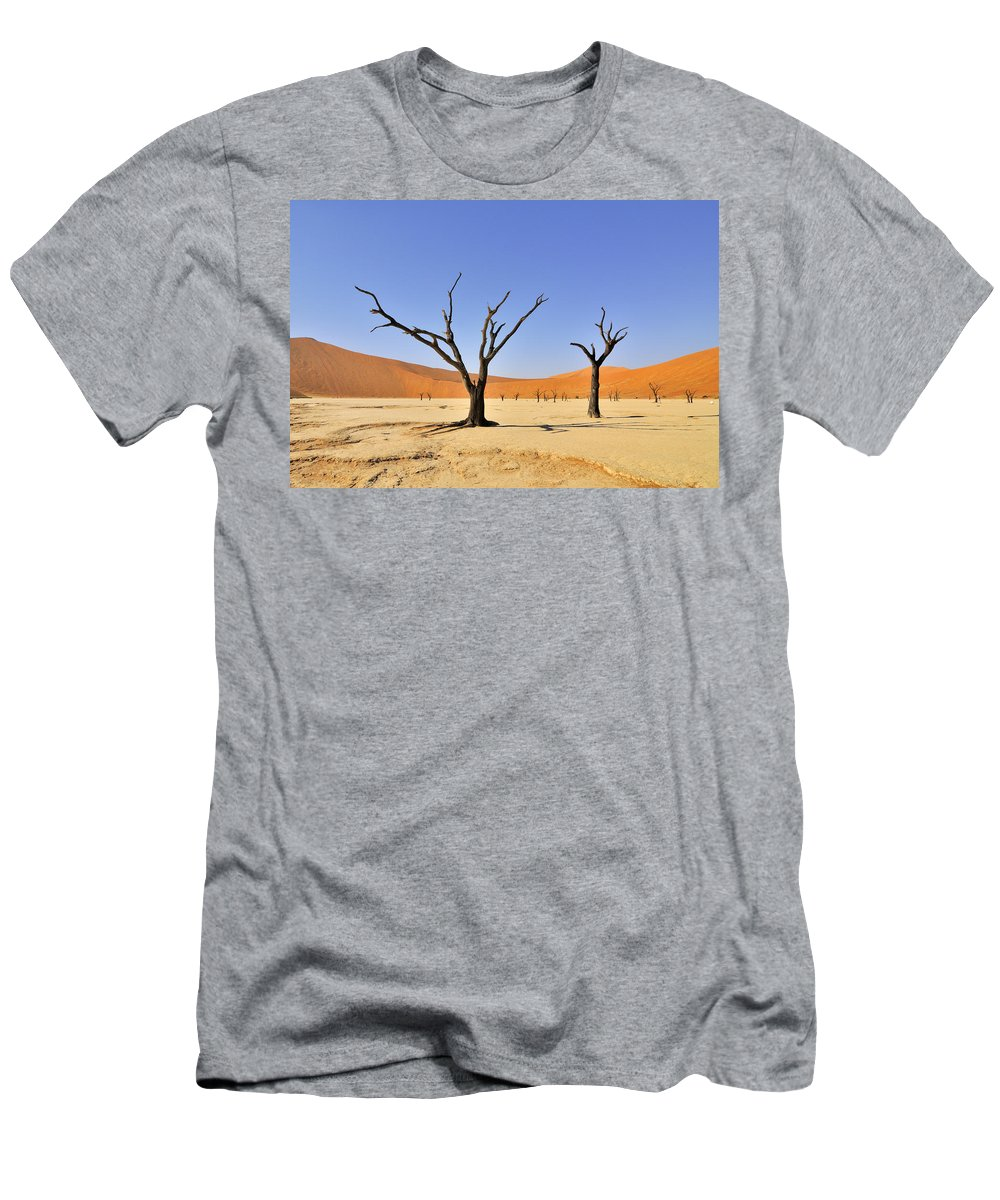 Deadvlei Men's T-Shirt (Athletic Fit) featuring the photograph 120118p016 by Arterra Picture Library