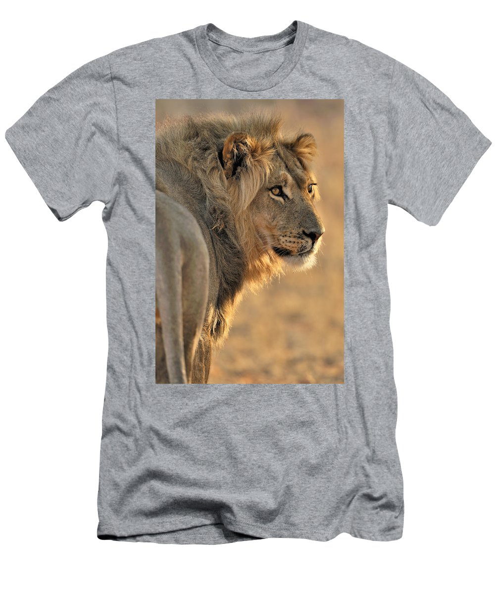 African Men's T-Shirt (Athletic Fit) featuring the photograph 120118p093 by Arterra Picture Library