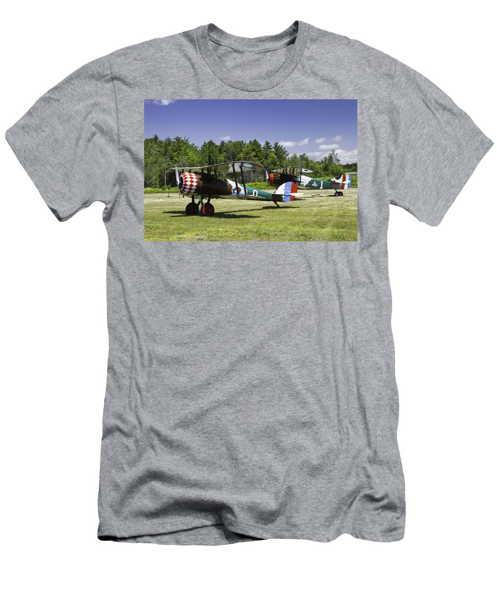 1917 Nieuport 28c.1 Men's T-Shirt (Athletic Fit) featuring the photograph 1917 Nieuport 28c.1 Fighter World War One Photo by Keith Webber Jr