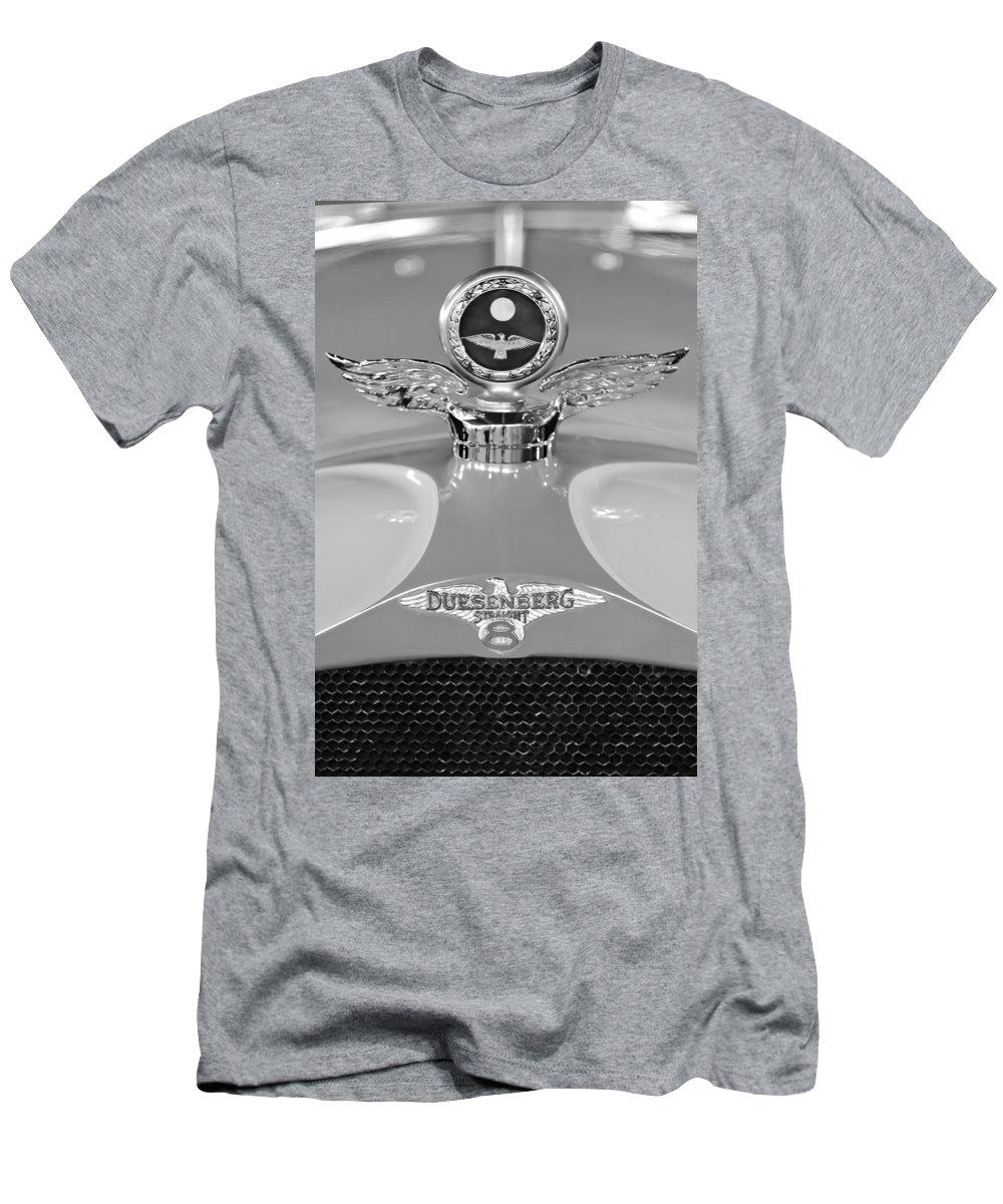 1926 Duesenberg Model A Men's T-Shirt (Athletic Fit) featuring the photograph 1926 Duesenberg Model A Boyce Motometer 2 by Jill Reger