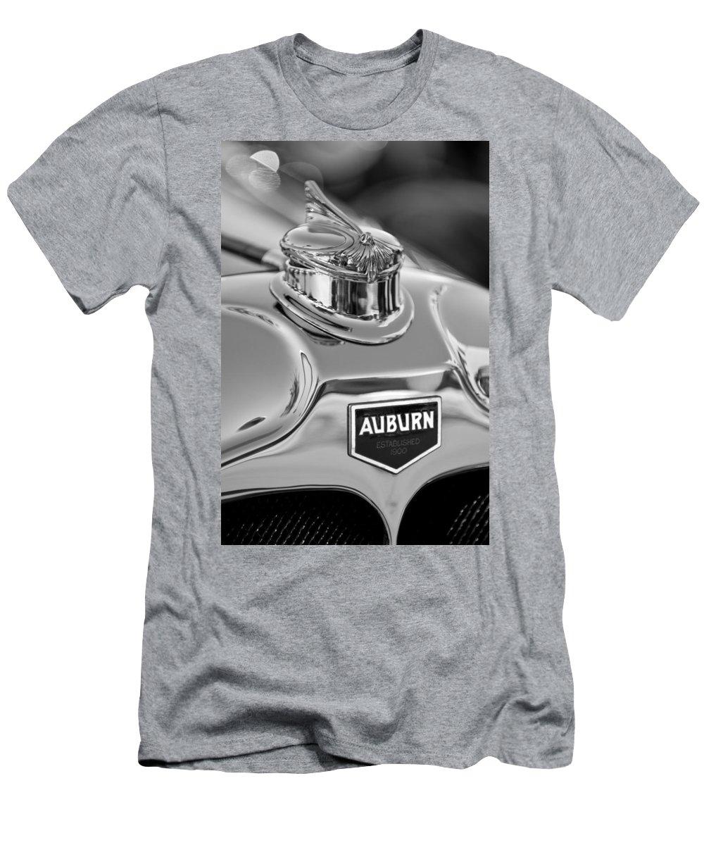 1929 Auburn 8-90 Speedster Men's T-Shirt (Athletic Fit) featuring the photograph 1929 Auburn 8-90 Speedster Hood Ornament 2 by Jill Reger