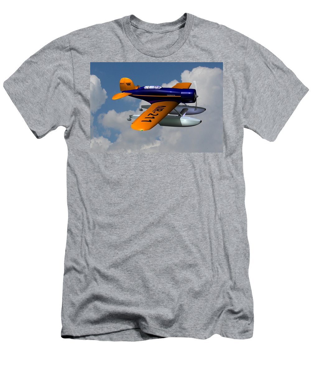 Airplane Men's T-Shirt (Athletic Fit) featuring the digital art 1930 Lockheed Model 8 Sirius by Stuart Swartz