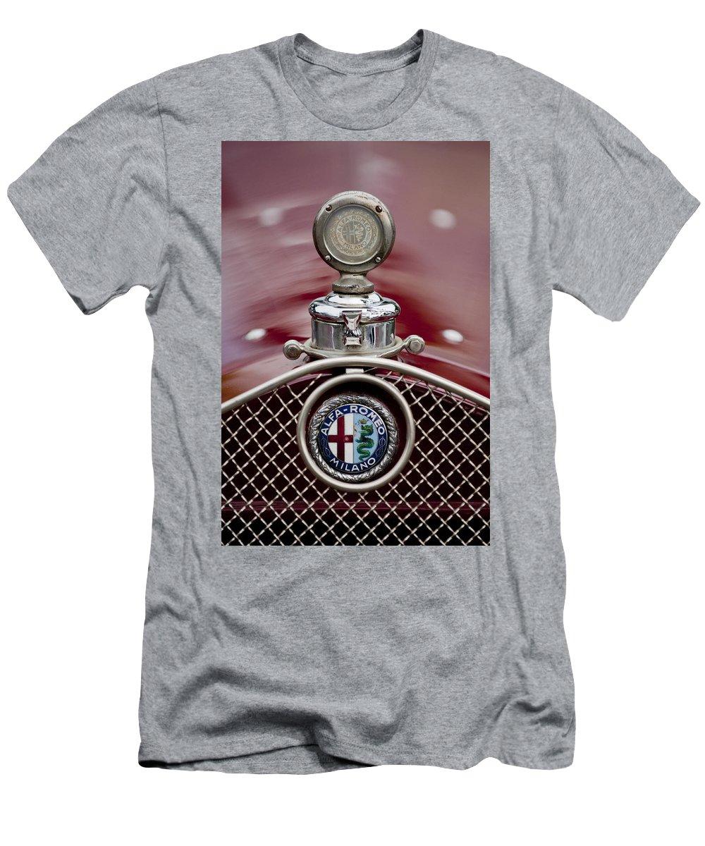 1931 Alfa-romeo Men's T-Shirt (Athletic Fit) featuring the photograph 1931 Alfa-romeo Hood Ornament by Jill Reger