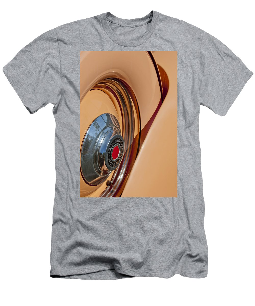 1936 Packard Men's T-Shirt (Athletic Fit) featuring the photograph 1936 Packard Spare Tire by Jill Reger