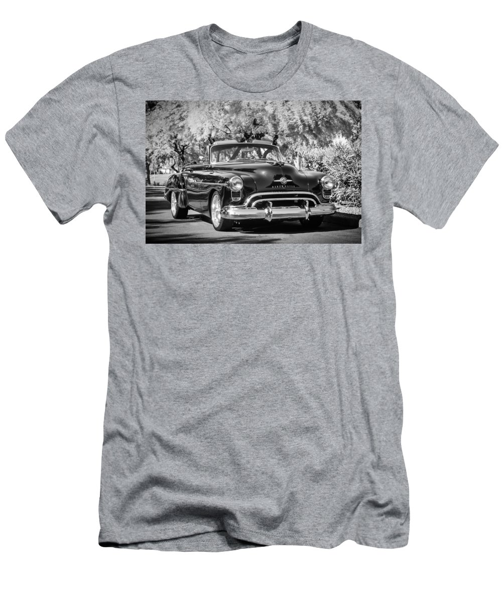 1950 Oldsmobile 88 Men's T-Shirt (Athletic Fit) featuring the photograph 1950 Oldsmobile 88 -105bw by Jill Reger