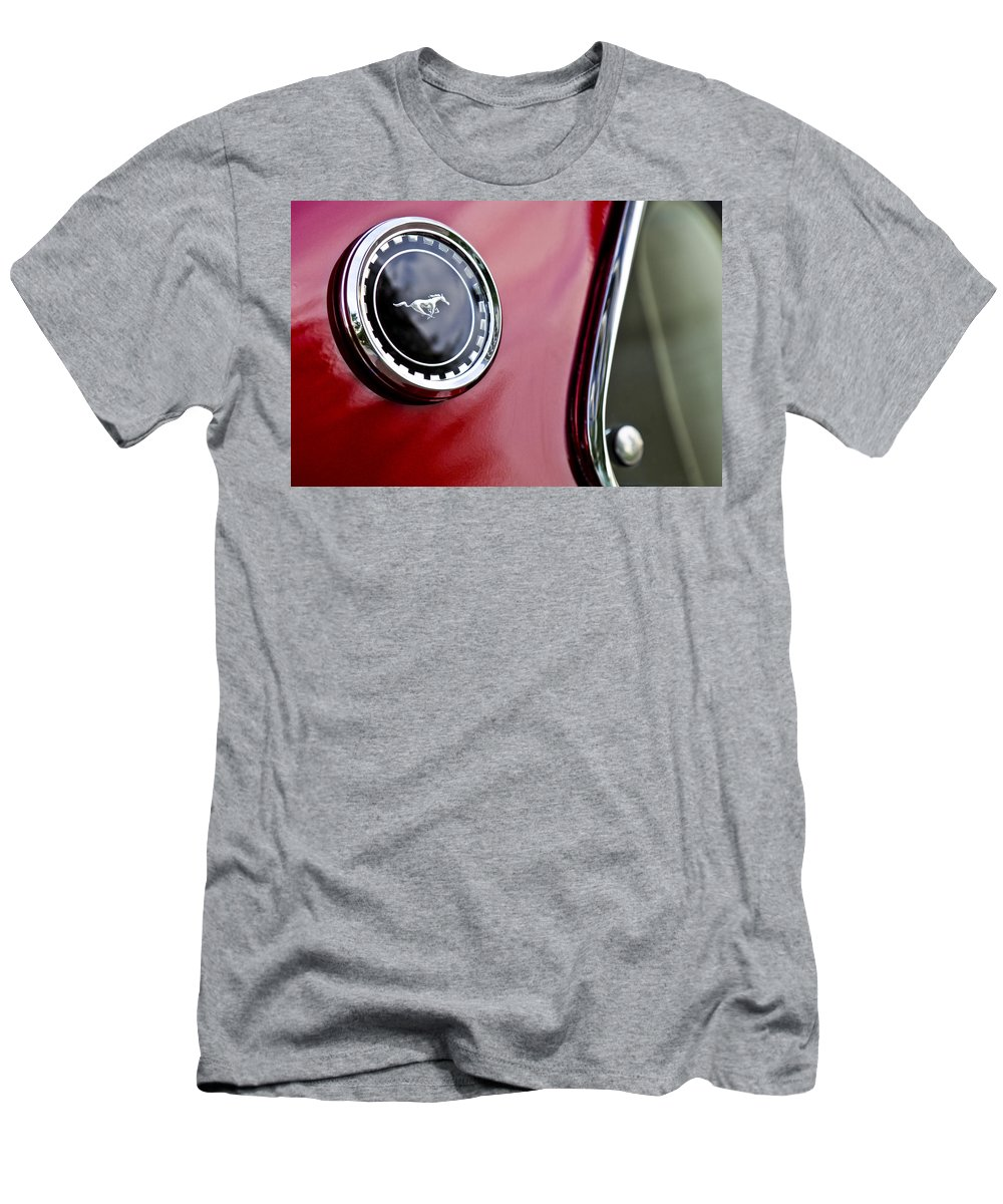 1969 Ford Mustang Men's T-Shirt (Athletic Fit) featuring the photograph 1969 Ford Mustang Mach 1 by Jill Reger