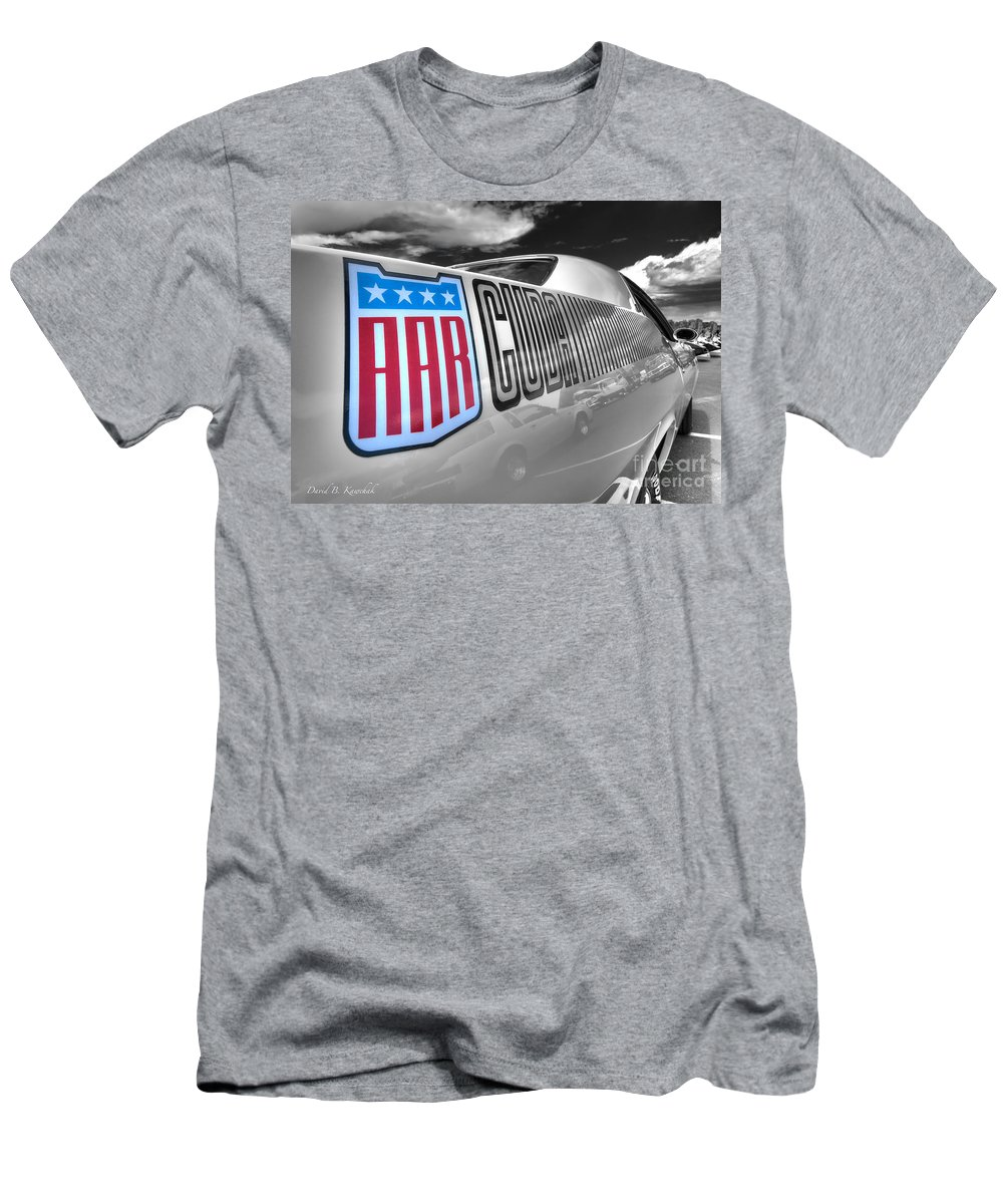 1970 Aar Barracuda Men's T-Shirt (Athletic Fit) featuring the photograph 1970 Aar Brracuda by David B Kawchak Custom Classic Photography