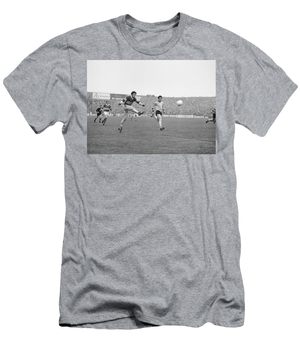 All Ireland Football Final Men's T-Shirt (Athletic Fit) featuring the photograph 1978 All Ireland Football Final by Irish Photo Archive