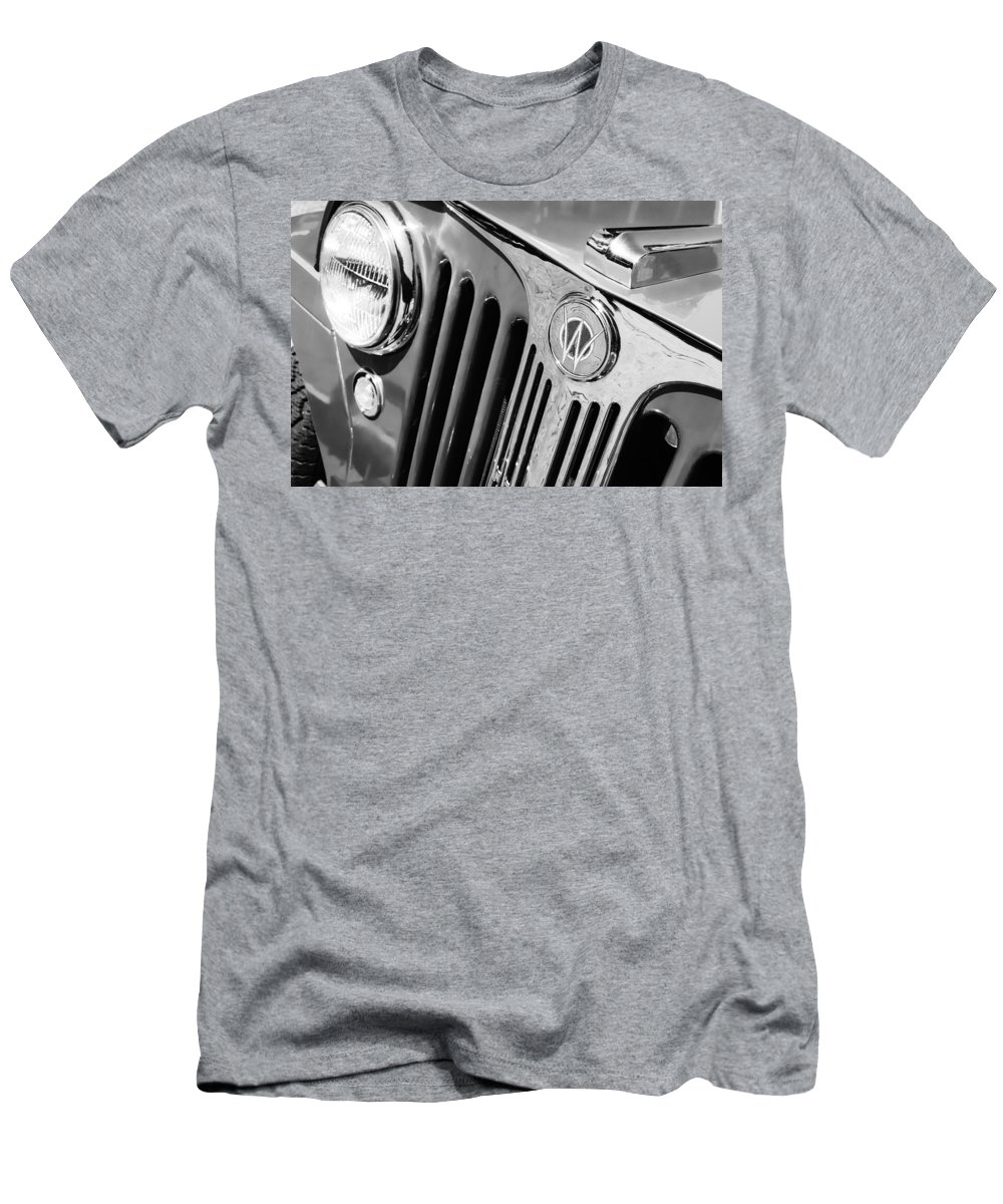 1949 Willys Jeep Station Wagon Grille Emblem T Shirt For Sale By 1950 Mens Athletic Fit Featuring