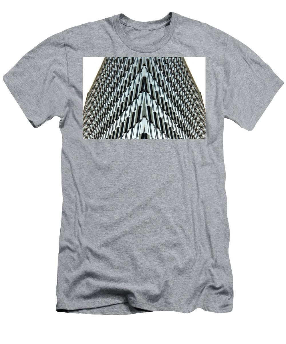Original Men's T-Shirt (Athletic Fit) featuring the photograph Abstract Buildings 4 by J D Owen