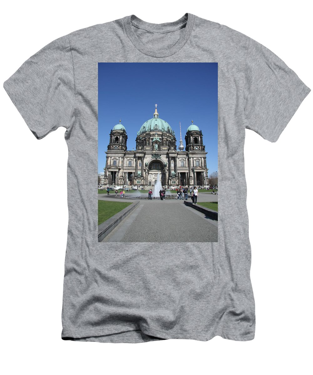 Cathedral Men's T-Shirt (Athletic Fit) featuring the photograph Berliner Dom by Christiane Schulze Art And Photography