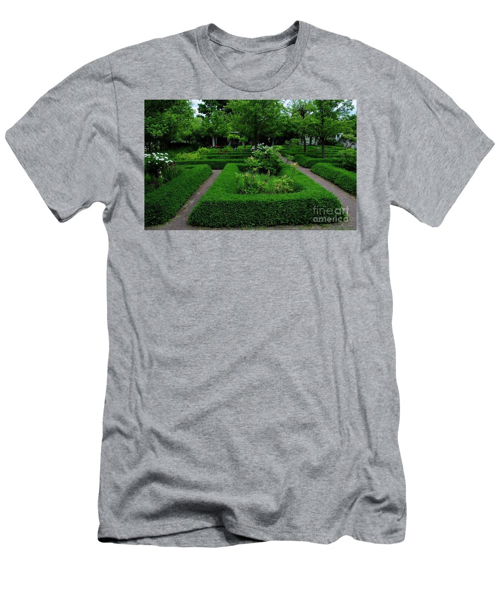 English Men's T-Shirt (Athletic Fit) featuring the photograph English Garden by Kathleen Struckle