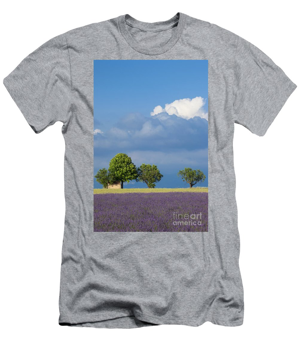 Cloud Men's T-Shirt (Athletic Fit) featuring the photograph Evening In Provence by Brian Jannsen