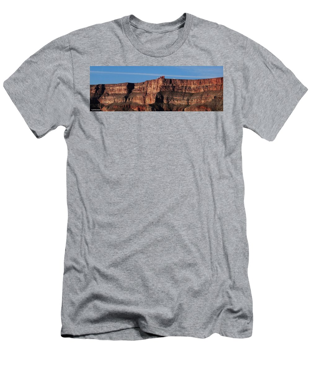 Grand Canyon Men's T-Shirt (Athletic Fit) featuring the digital art Grand Canyon West by James Markey