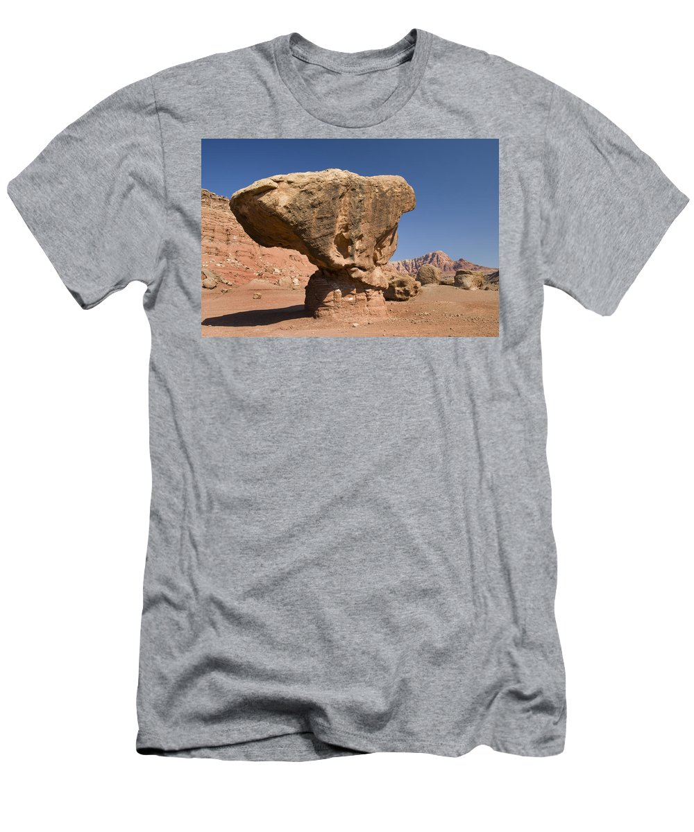 Feb0514 Men's T-Shirt (Athletic Fit) featuring the photograph Lees Ferry Rock Formation Arizona by Tom Vezo