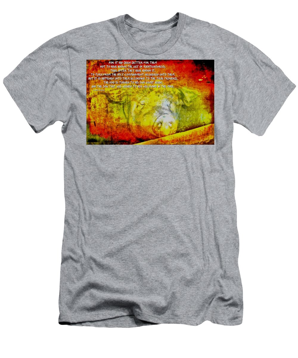 Jesus Men's T-Shirt (Athletic Fit) featuring the digital art 2 Peter 2 2122 by Michelle Greene Wheeler