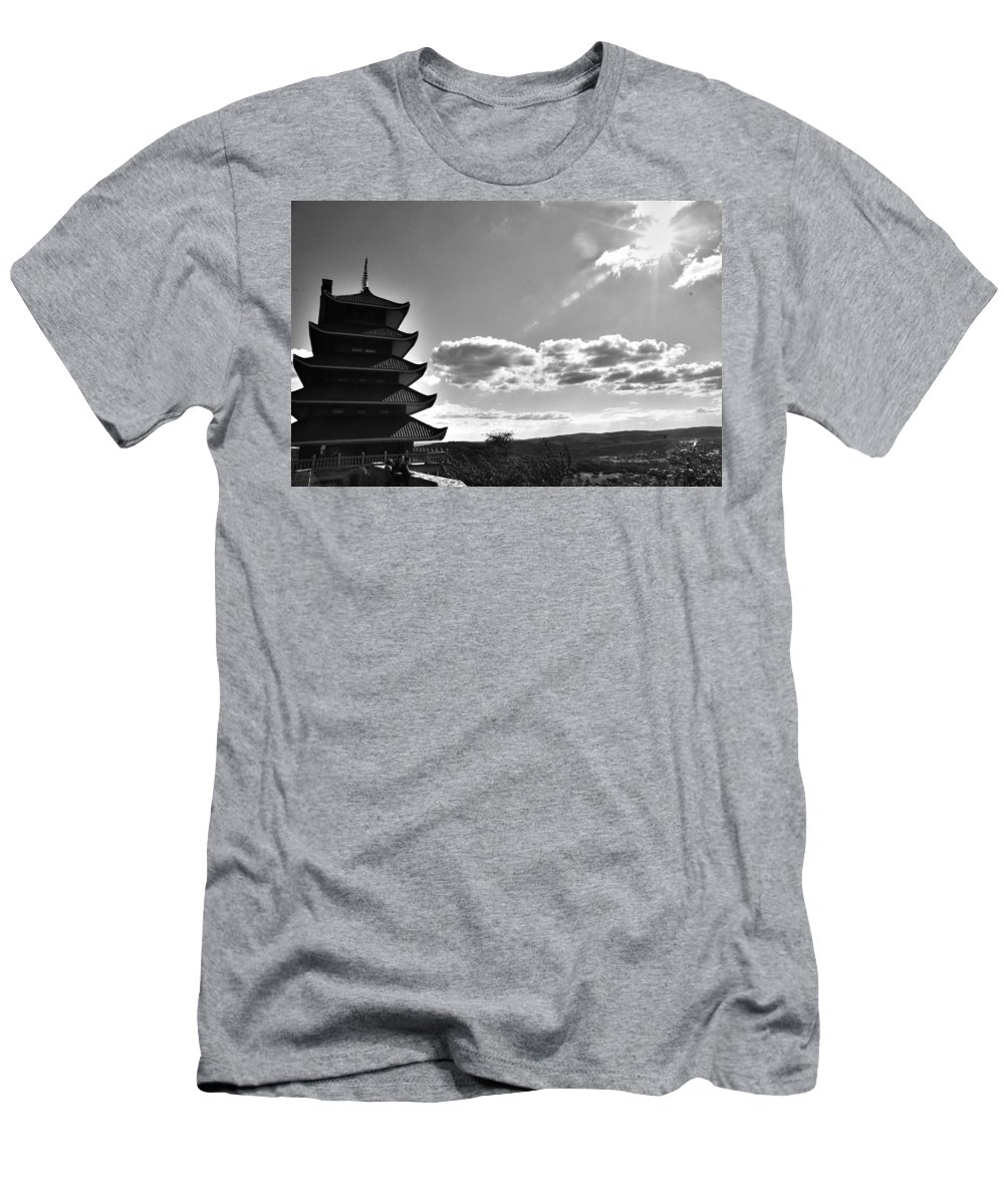 Men's T-Shirt (Athletic Fit) featuring the photograph Reading Pagoda by Matt Zerbe