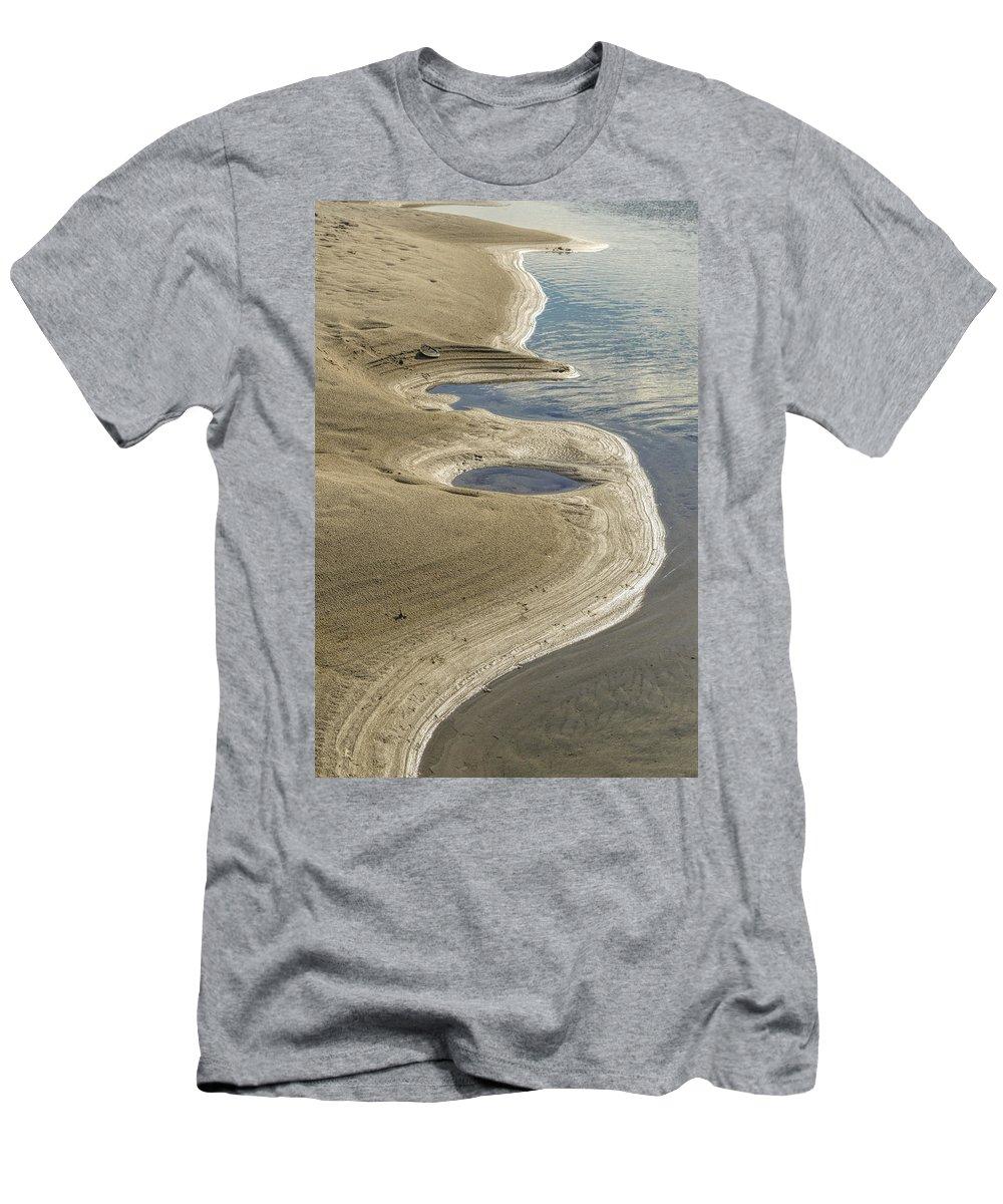 Crane Beach Men's T-Shirt (Athletic Fit) featuring the photograph Shoreline by David Stone