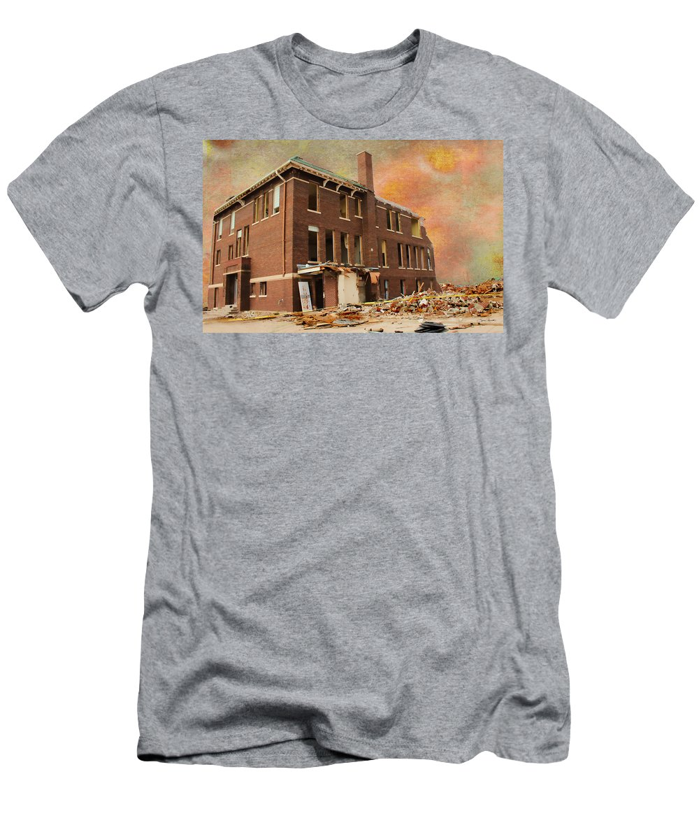 School Men's T-Shirt (Athletic Fit) featuring the photograph Stripped by Sylvia Thornton