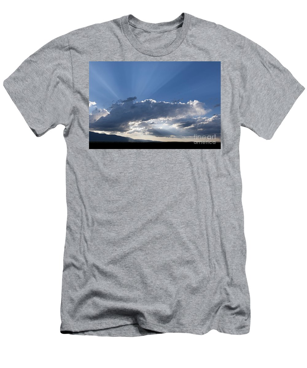 Zumwalt Prairie Men's T-Shirt (Athletic Fit) featuring the photograph Summer Clouds by John Shaw