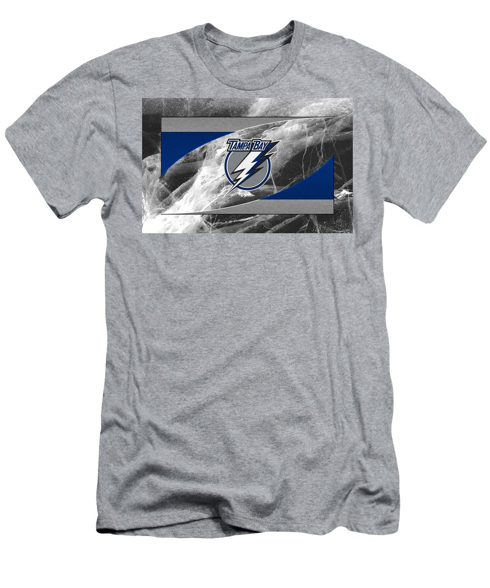 Lightning Men's T-Shirt (Athletic Fit) featuring the photograph Tampa Bay Lightning by Joe Hamilton