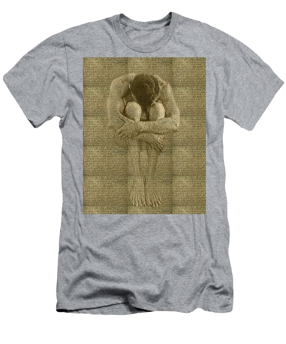 Nudes Men's T-Shirt (Athletic Fit) featuring the photograph The Artist by Kurt Van Wagner