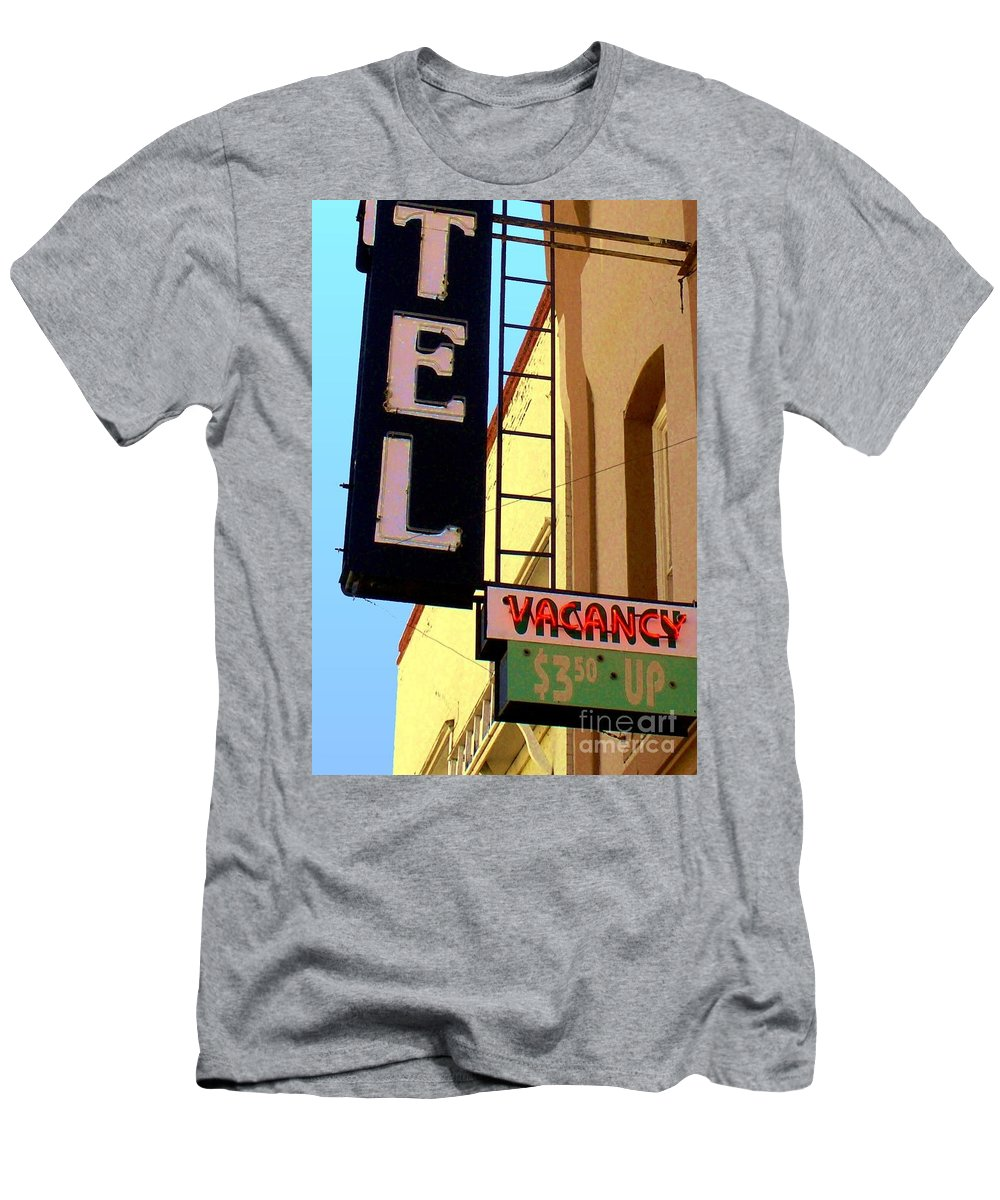 Hotel Men's T-Shirt (Athletic Fit) featuring the digital art Vacancy by Valerie Reeves
