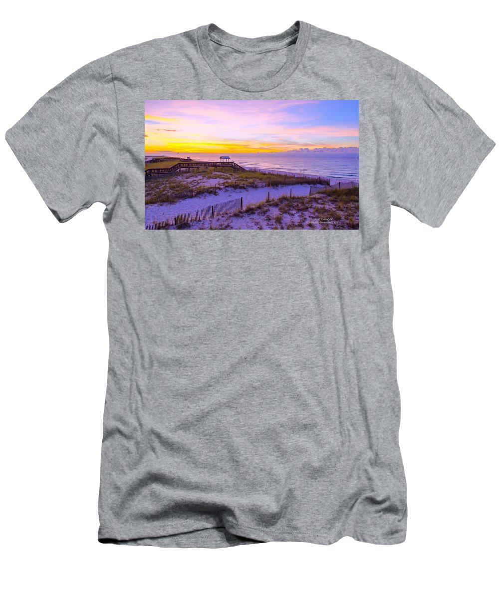 Navarre Beach Men's T-Shirt (Athletic Fit) featuring the photograph 2014 09 26 01 D 0586 by Mark Olshefski
