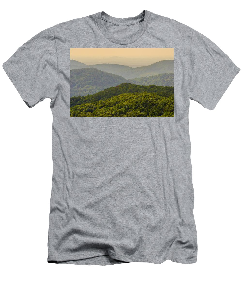 Appalachia Men's T-Shirt (Athletic Fit) featuring the photograph Scenery Around Lake Jocasse Gorge by Alex Grichenko