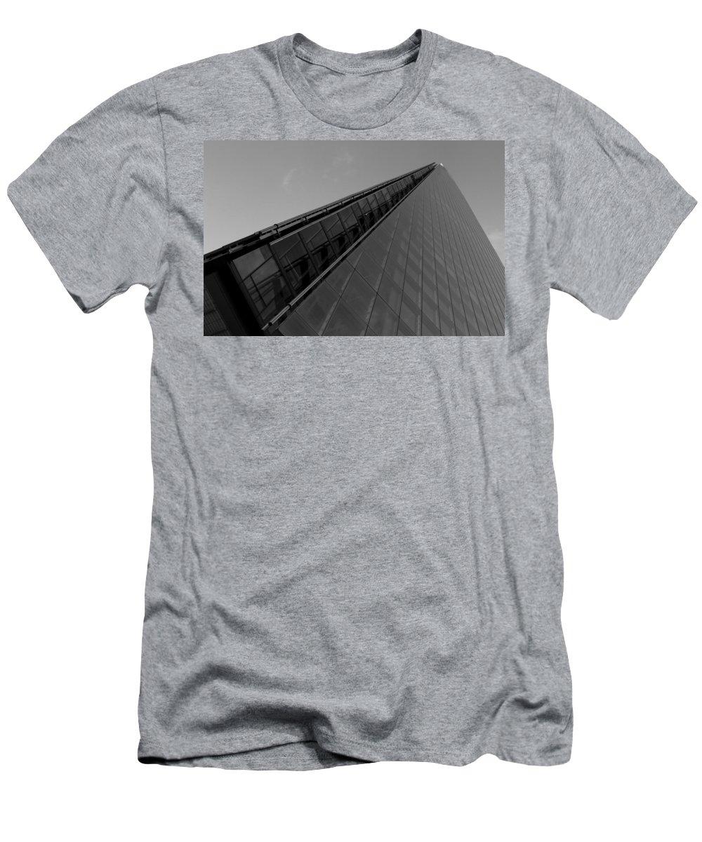 Shard Men's T-Shirt (Athletic Fit) featuring the photograph The Shard London by David Pyatt