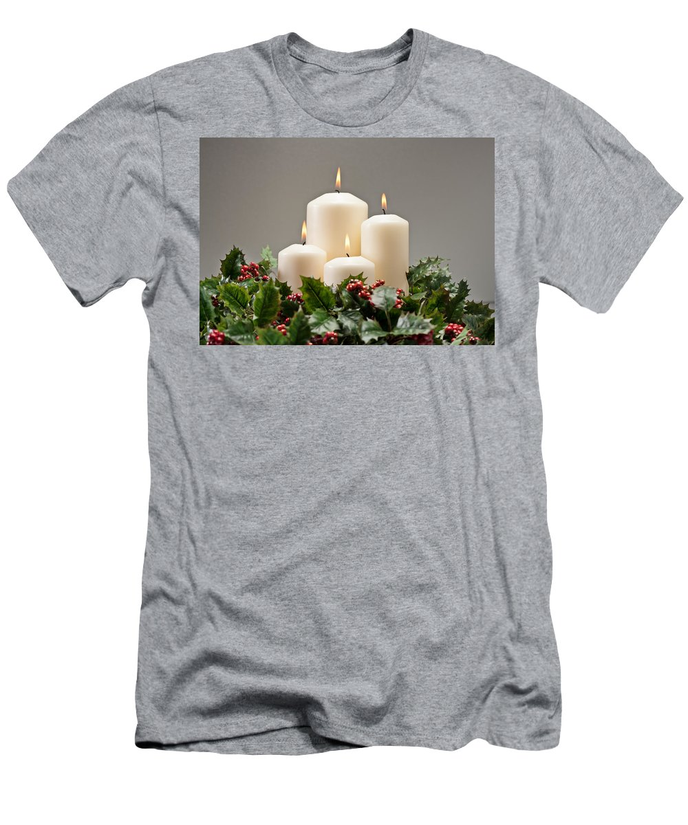 Cone Men's T-Shirt (Athletic Fit) featuring the photograph Advent Wreath by U Schade