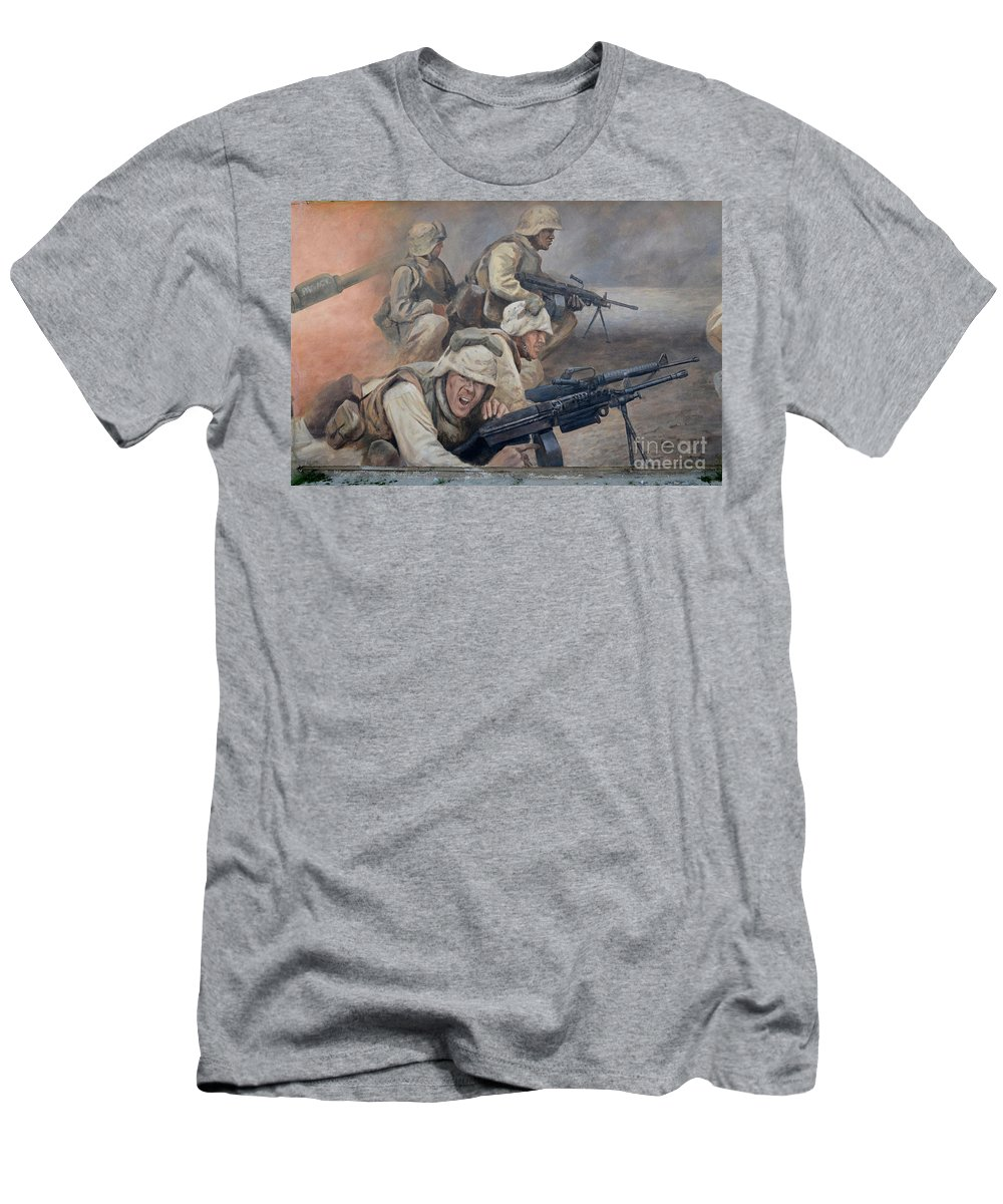 Mural Men's T-Shirt (Athletic Fit) featuring the photograph 29 Palms Mural 1 by Bob Christopher
