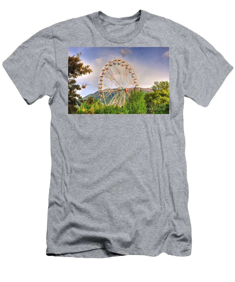 Ferris Wheel Men's T-Shirt (Athletic Fit) featuring the photograph Ferris Wheel by Mats Silvan