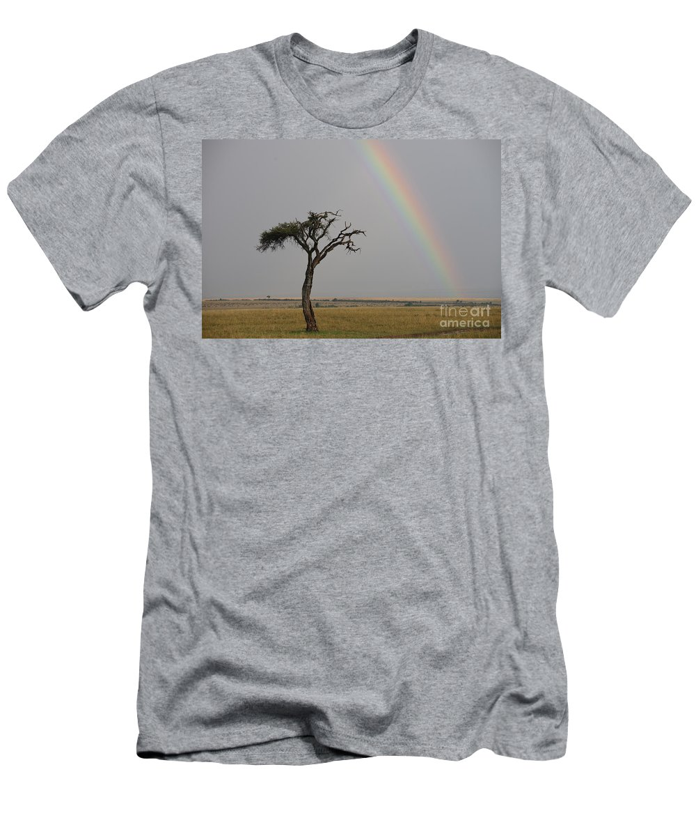 Africa Men's T-Shirt (Athletic Fit) featuring the photograph Rainbow by John Shaw