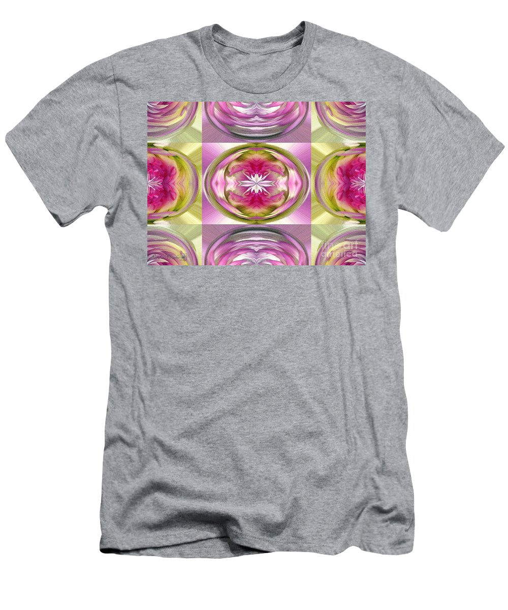 Dahlia Men's T-Shirt (Athletic Fit) featuring the painting Star Elite Abstract by J McCombie