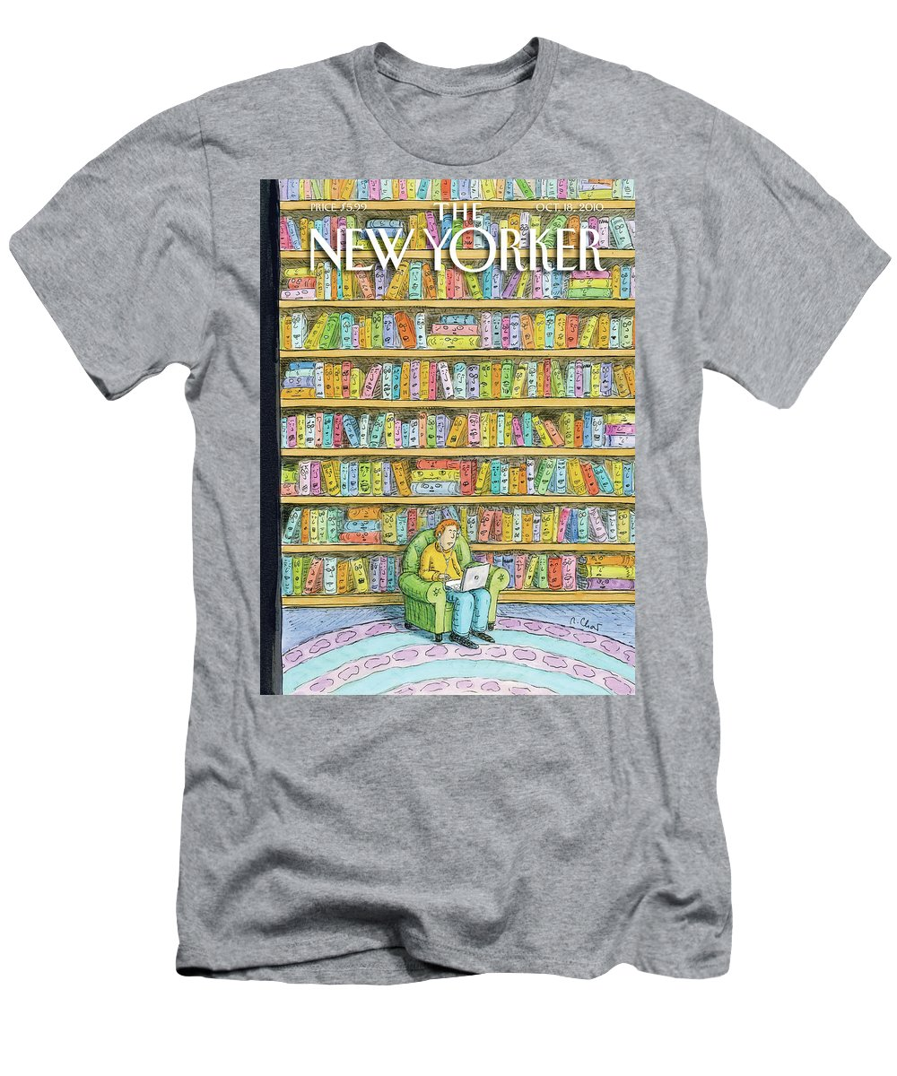 Computer Men's T-Shirt (Athletic Fit) featuring the painting New Yorker October 18th, 2010 by Roz Chast