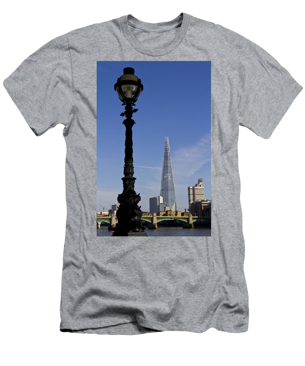The Shard Men's T-Shirt (Athletic Fit) featuring the photograph The Shard London by David Pyatt