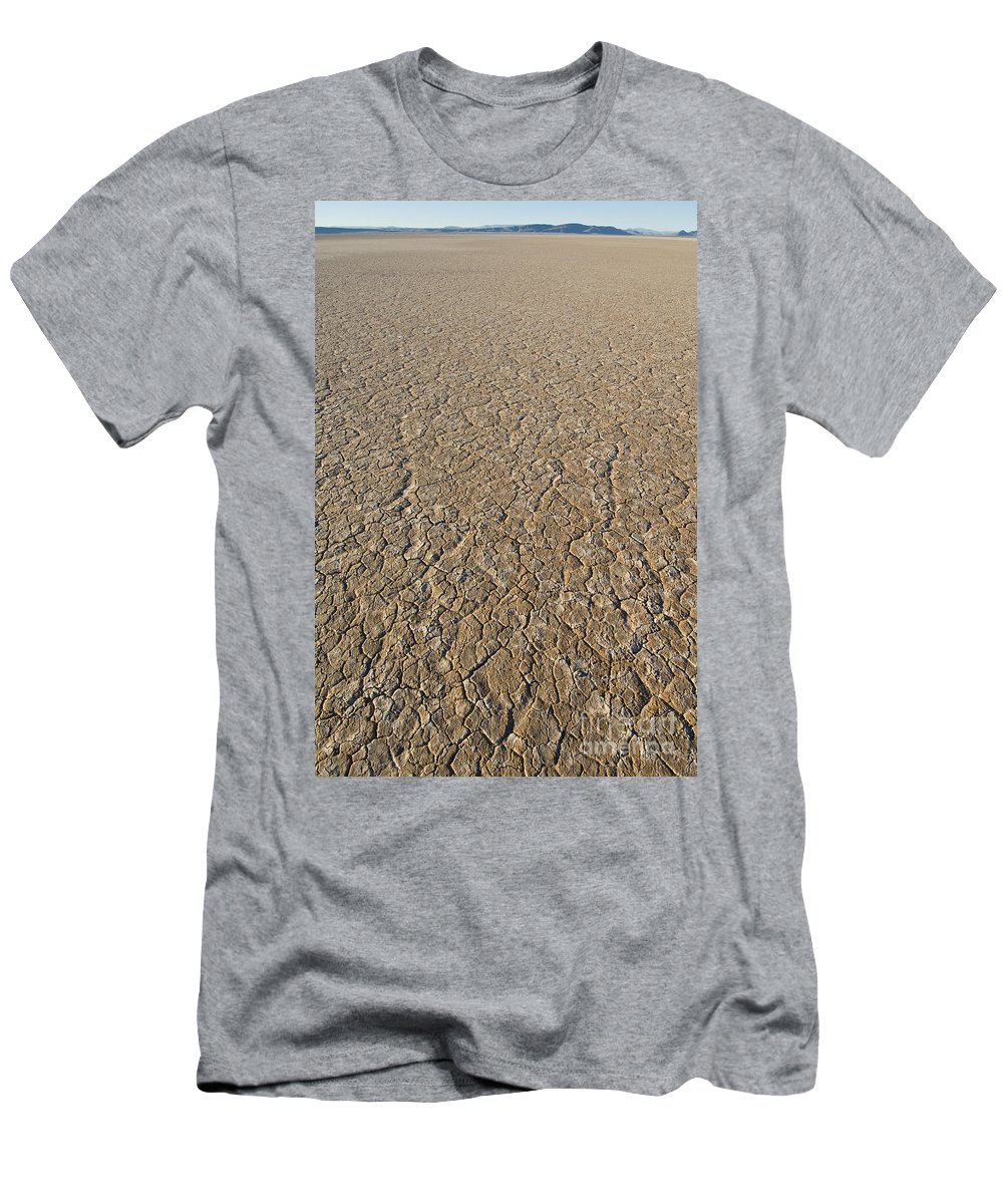 Alvord Desert Men's T-Shirt (Athletic Fit) featuring the photograph Alvord Desert, Oregon by John Shaw