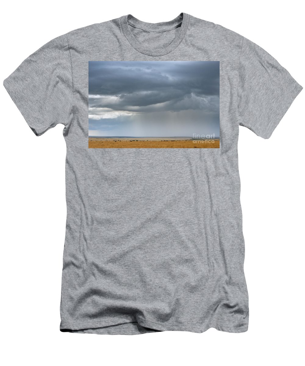 Africa Men's T-Shirt (Athletic Fit) featuring the photograph Clouds Over Maasai Mara, Kenya by John Shaw