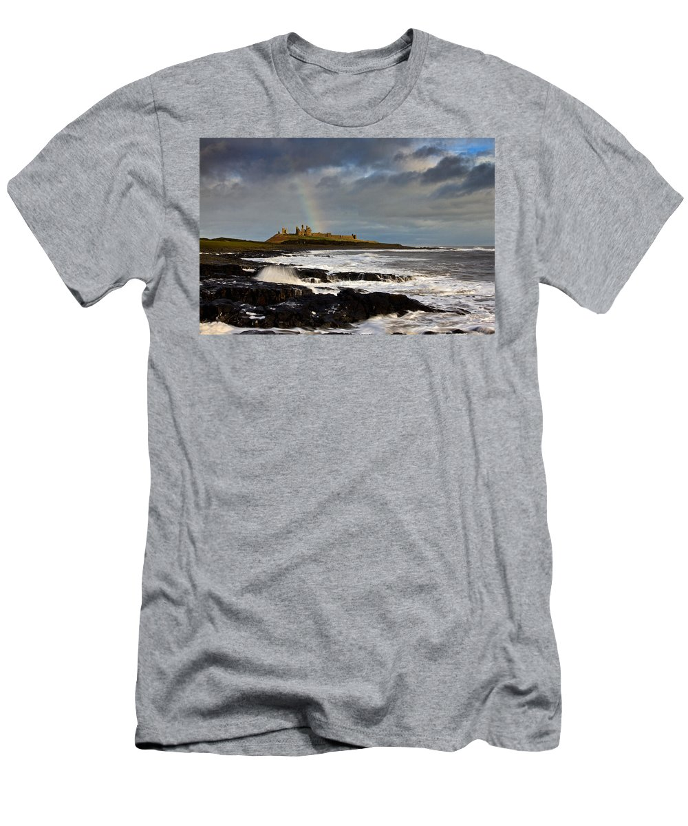 Dunstanburgh Castle Men's T-Shirt (Athletic Fit) featuring the photograph Dunstanburgh Castle by David Pringle