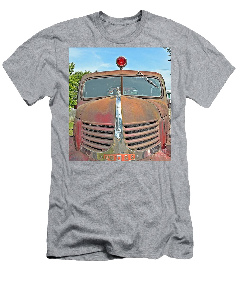 Fire Men's T-Shirt (Athletic Fit) featuring the photograph Fire Truck by Randy J Heath